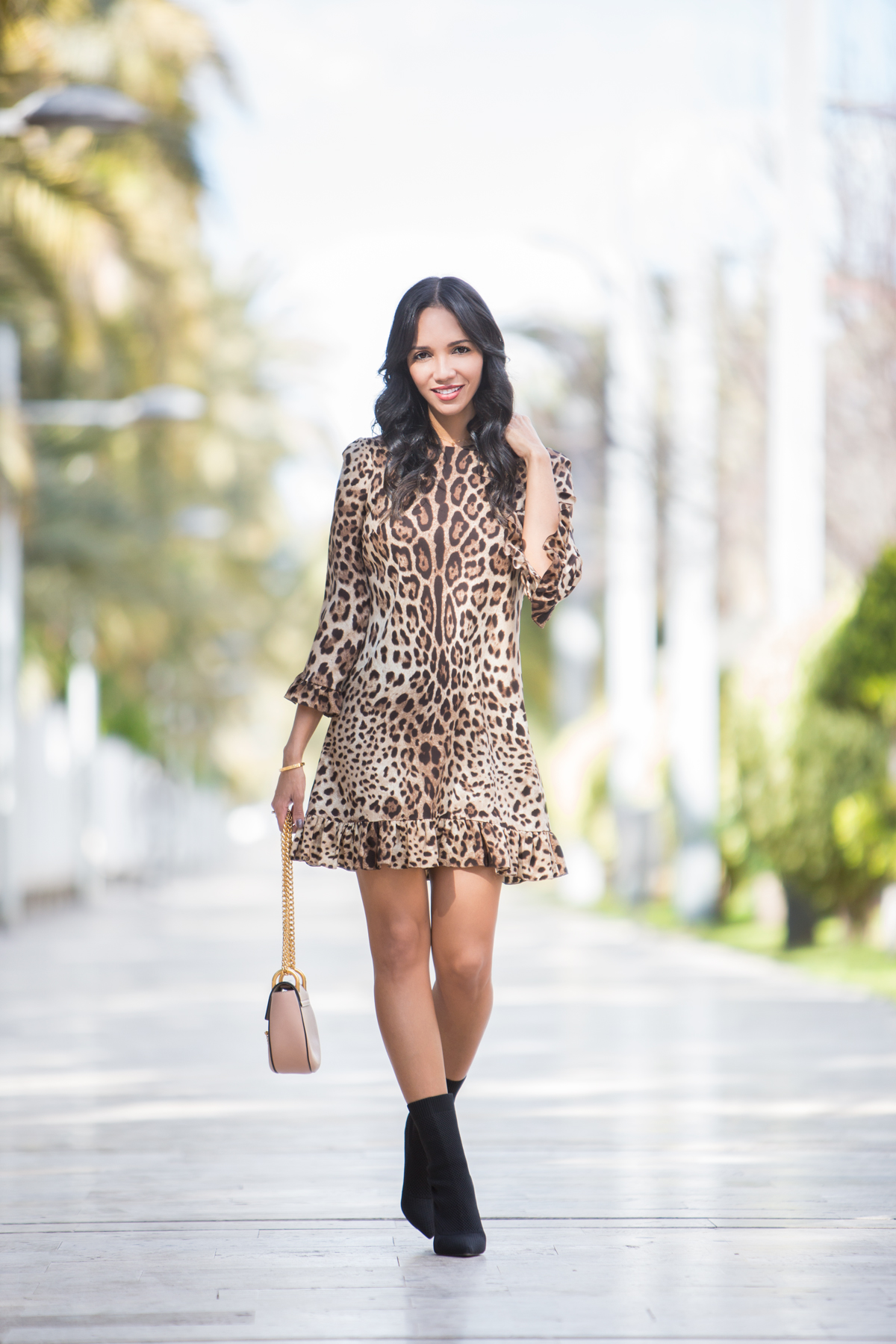 Vestido leopardo print Carolina Personal Shopper