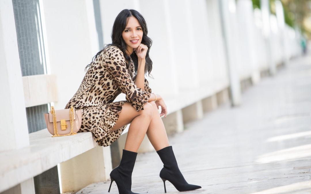 Look Vestido Leopardo Print